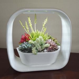 Lampe jardinière décorative forme carré avec LED